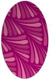 rug #572665 | oval pink retro rug