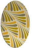 rug #572745 | oval yellow popular rug