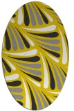 rug #572757 | oval yellow retro rug