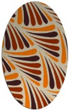 rug #572773 | oval retro rug
