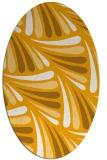 rug #572793 | oval light-orange rug