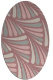 rug #572797   oval pink rug