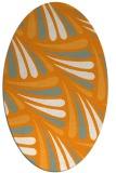 rug #572801 | oval light-orange rug