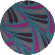 rug #573225 | round pink retro rug