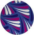 rug #573265 | round blue-violet retro rug