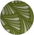 rug #573285 | round green popular rug