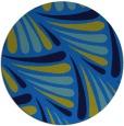 rug #573329 | round blue retro rug
