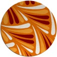 rug #573353 | round orange popular rug