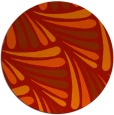 rug #573405 | round orange popular rug