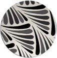 rug #573433 | round black retro rug