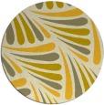 rug #573449 | round yellow rug