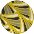 rug #573461   round yellow retro rug