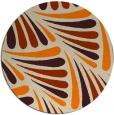 rug #573477 | round orange rug