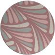 rug #573501 | round pink rug