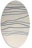 rug #576001   oval white stripes rug