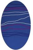 rug #576081 | oval blue-violet popular rug