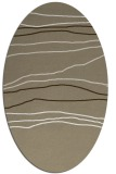 rug #576117 | oval white stripes rug