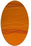 rug #576165 | oval red-orange stripes rug