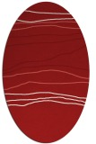 rug #576225 | oval red stripes rug
