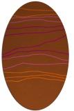 rug #576241 | oval red-orange rug