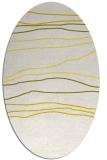 rug #576253 | oval white stripes rug