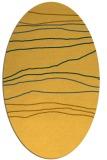 rug #576281   oval light-orange stripes rug