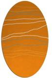 rug #576321   oval light-orange stripes rug