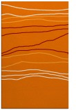 rug #576521 |  orange stripes rug