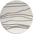 rug #576953 | round black stripes rug