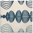 rug #580929 | square blue-green abstract rug