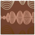 rug #581049 | square brown abstract rug