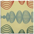 rug #581109 | square yellow abstract rug