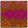rug #581169 | square red-orange abstract rug