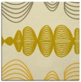 rug #581193 | square yellow abstract rug