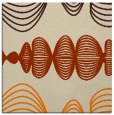 rug #581221   square orange circles rug