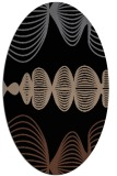 rug #581273 | oval black circles rug