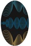 rug #581277 | oval black retro rug