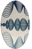 rug #581281 | oval white abstract rug