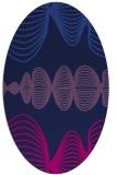 rug #581285 | oval blue abstract rug