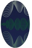 rug #581289 | oval blue-green rug
