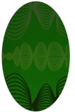 rug #581325 | oval green circles rug
