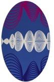 rug #581361 | oval blue-violet circles rug