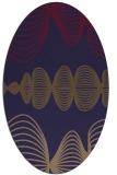 rug #581365 | oval beige abstract rug