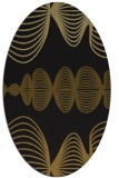 rug #581373 | oval black circles rug