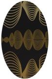 rug #581373 | oval mid-brown retro rug