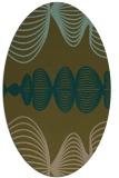 rug #581377   oval brown retro rug