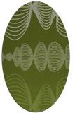 rug #581381 | oval green abstract rug