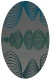 rug #581385   oval green abstract rug