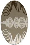 rug #581397 | oval white abstract rug