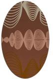 rug #581401 | oval brown circles rug